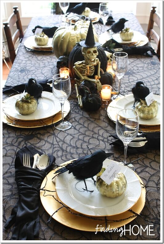 Tablescape Can Add To Spooky Feel | DIY Indoor Halloween Decorating Ideas