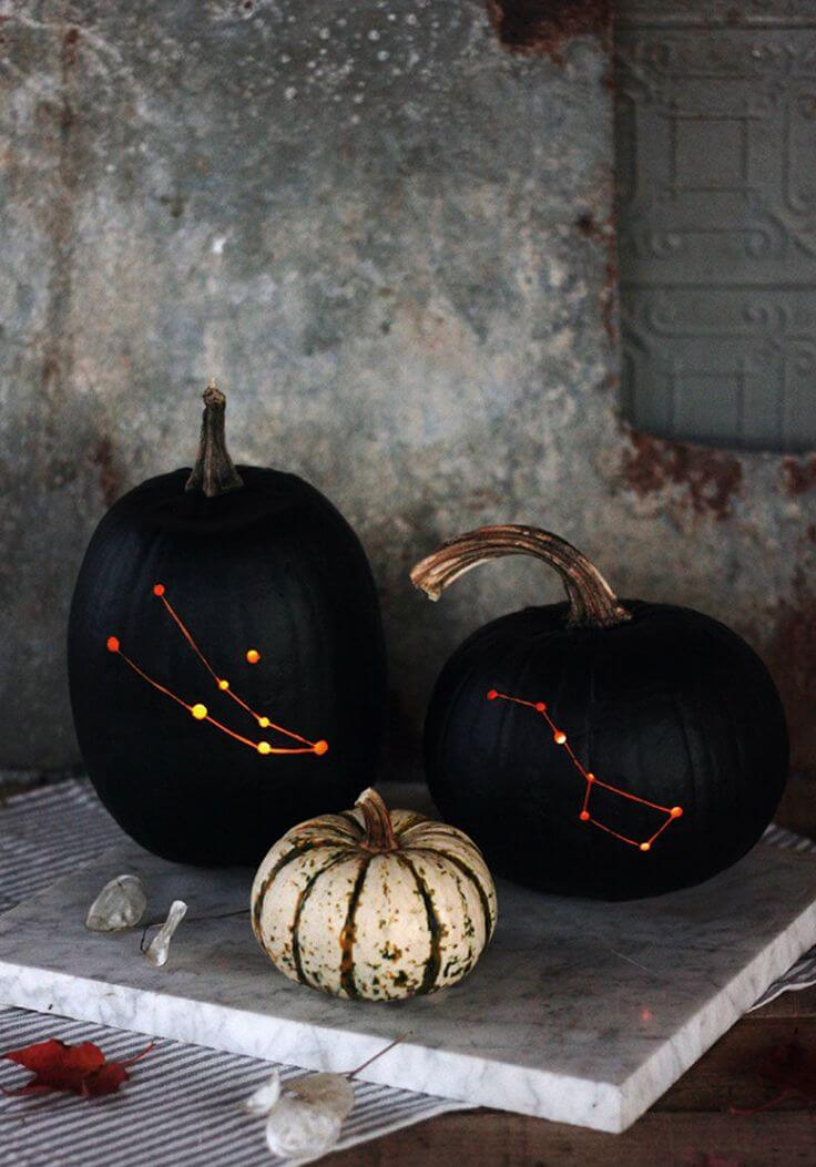 DIY Pumpkin Carving Ideas: Stargazing