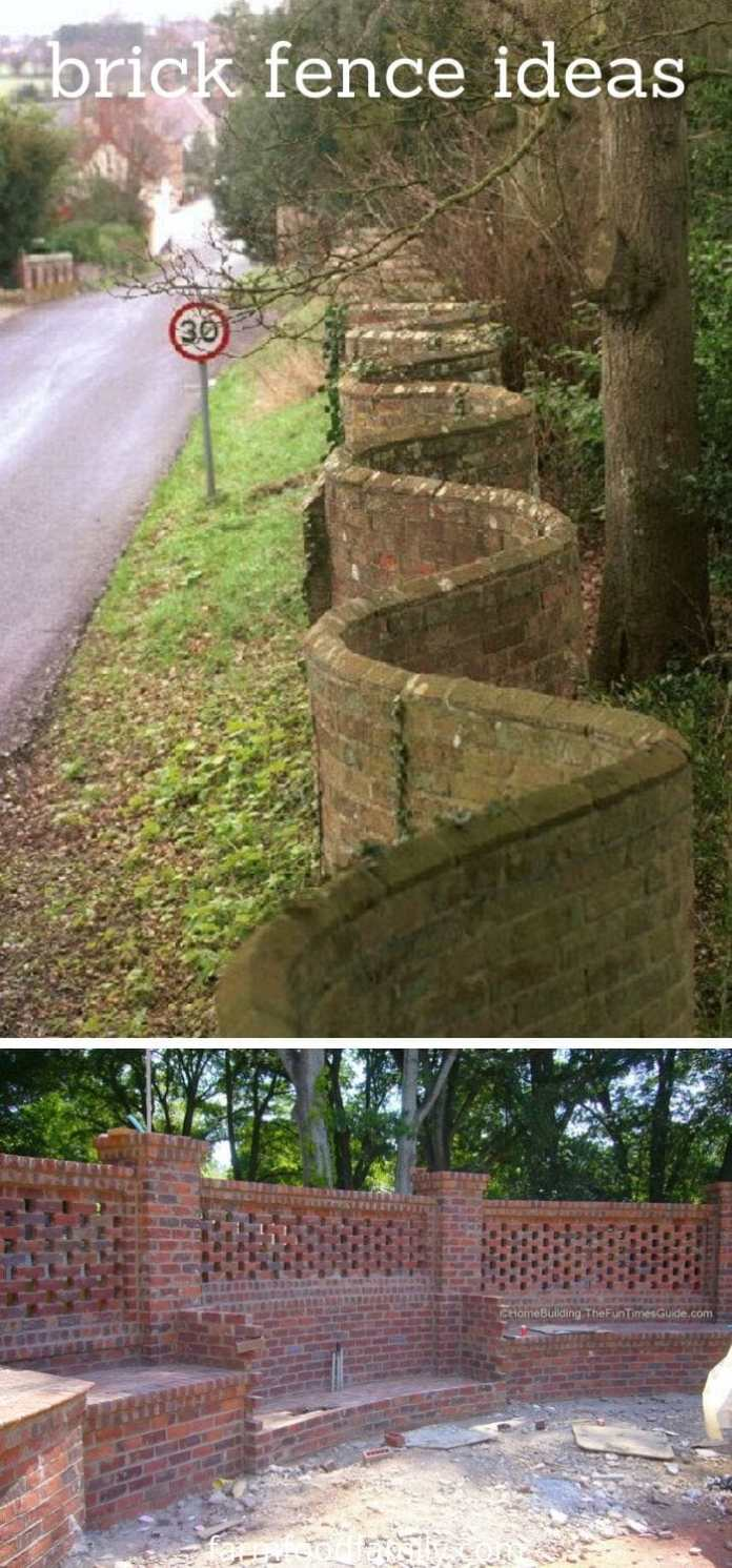 Brick fence ideas for your house