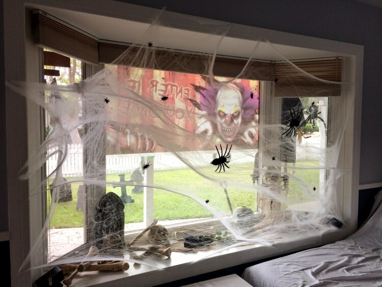 Archeology or a Massacre? | DIY Halloween Window Decoration Ideas