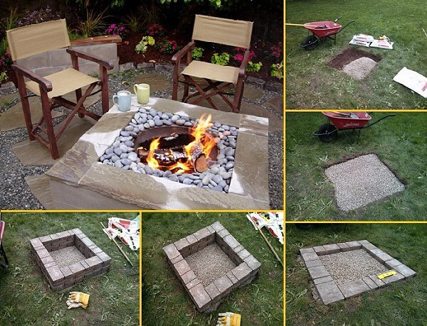 DIY Square Firepit | Awesome Firepit Area Ideas For Your Outdoor Activities
