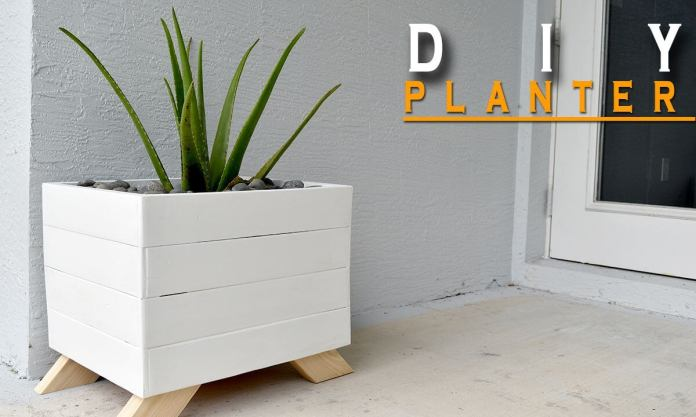 DIY Chic Painted Wood Planter