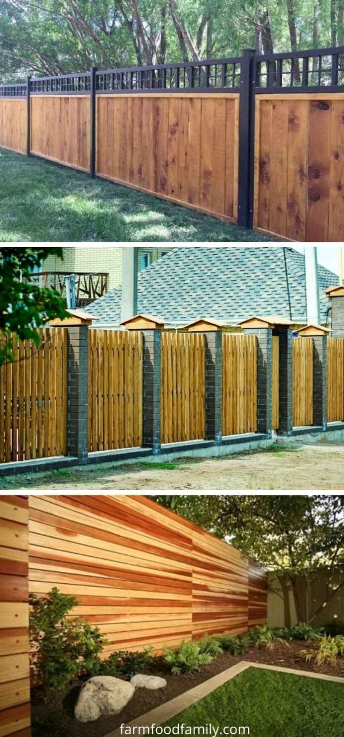 Inexpensive wood fence ideas for your yard