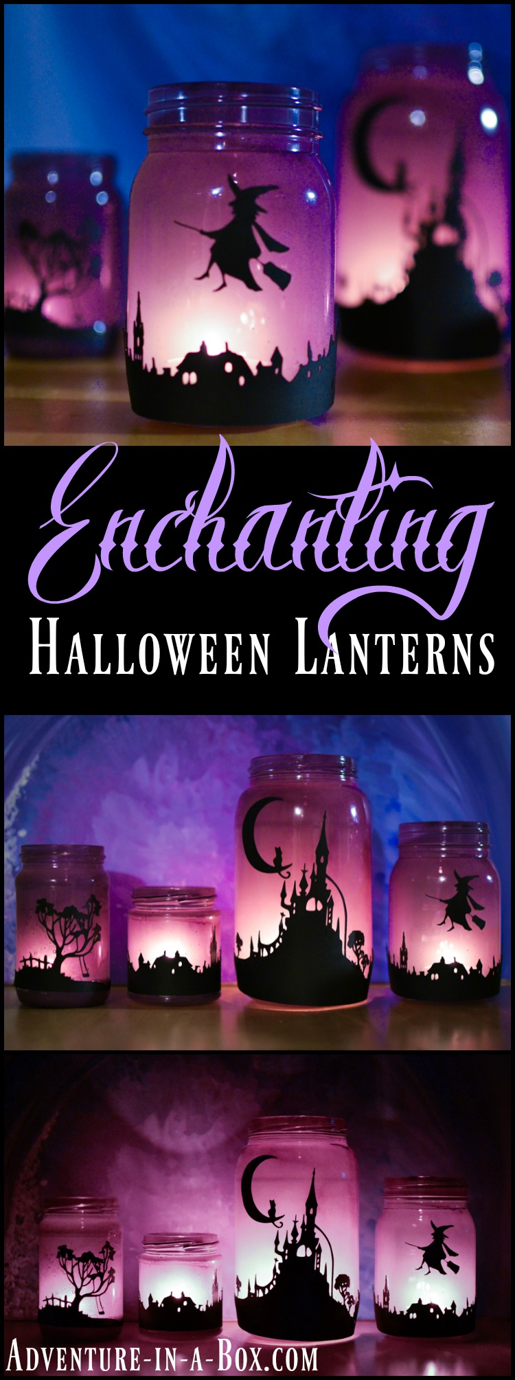 DIY Mason Jar Halloween Crafts: ENchanting Halloween laterns from Mason Jars