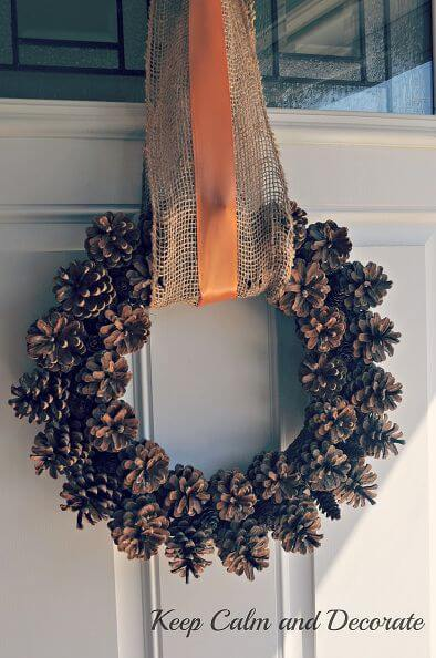 Fall Pinecone Wreath