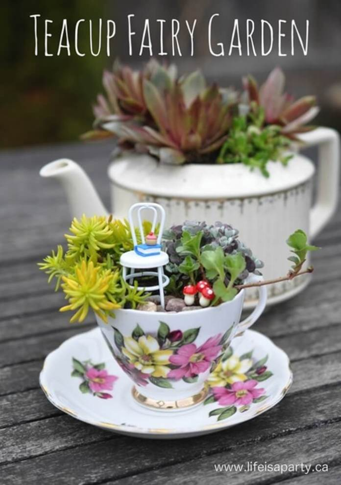 Fantastic Fairy Tea Party Projects | fairy garden accessories | miniture fairy garden ideas inspiration | homemade fairy garden decorations