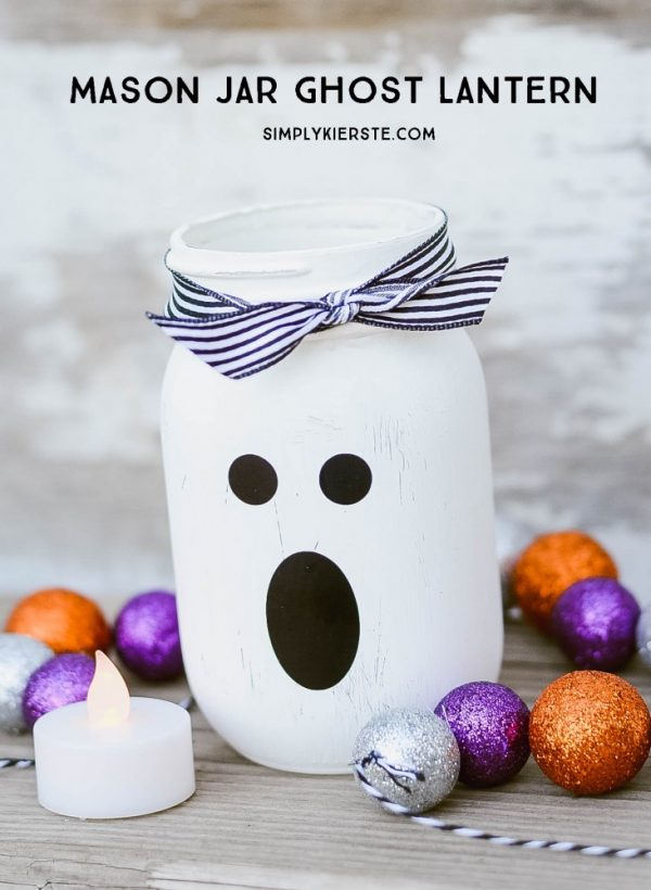 DIY Mason Jar Halloween Crafts: Mason Jar Ghost – Halloween Crafts with Mason Jars