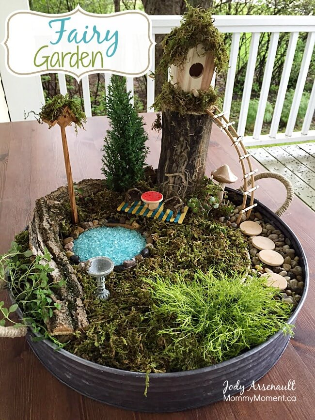 Secret Fairy Garden Planter | fairy garden accessories | miniture fairy garden ideas inspiration | homemade fairy garden decorations