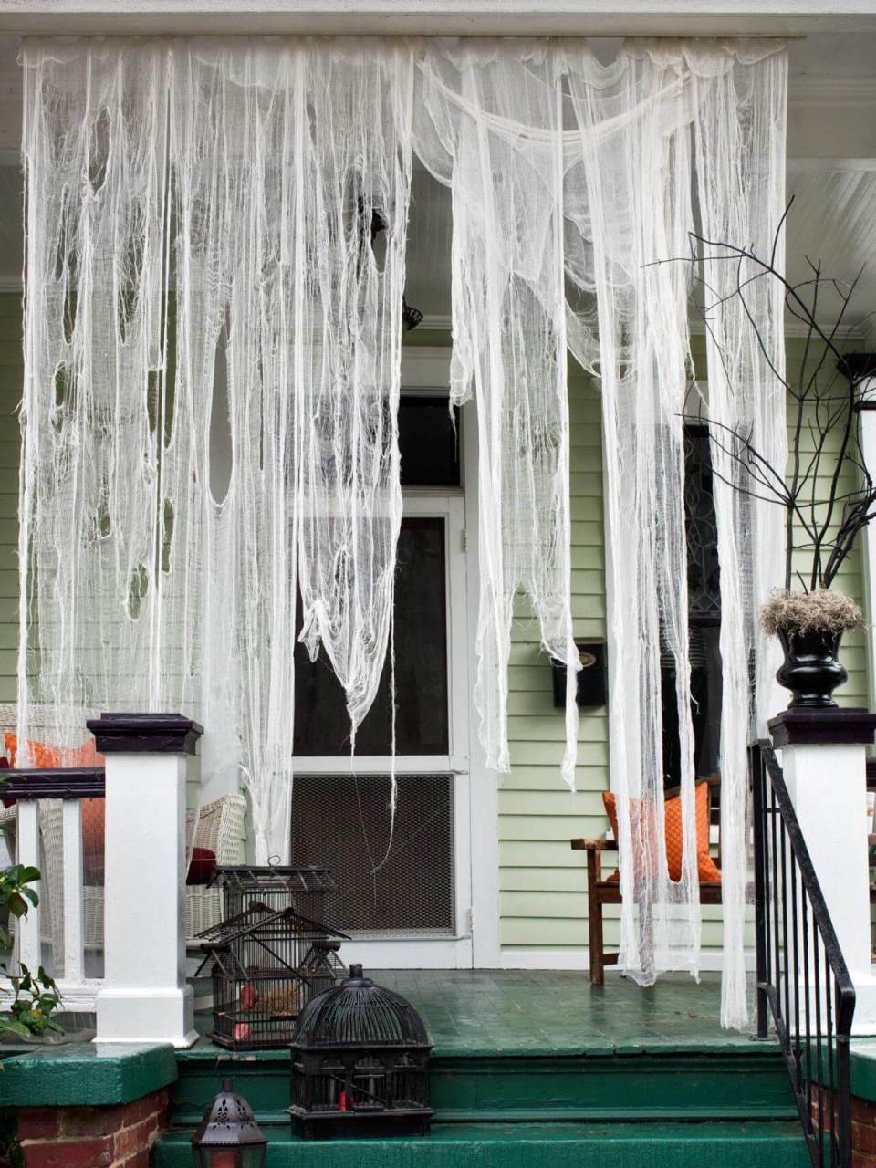 Reserved for Ghosts   Scary DIY Halloween Porch Decoration Ideas   vintage halloween porch
