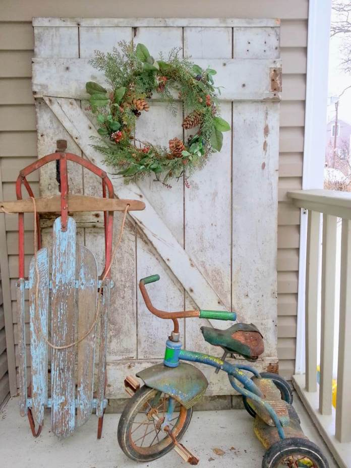 The Ghosts of Christmas Past | Vintage Porch Decor Ideas