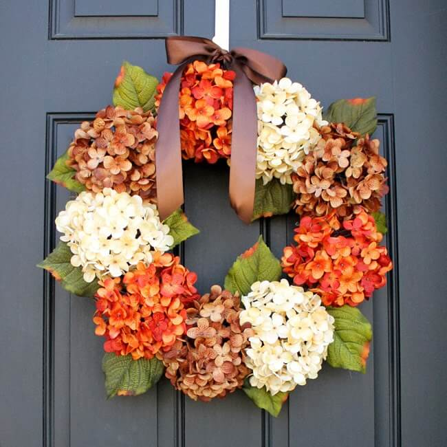 Fall Hydrangea Wreath Tutorial