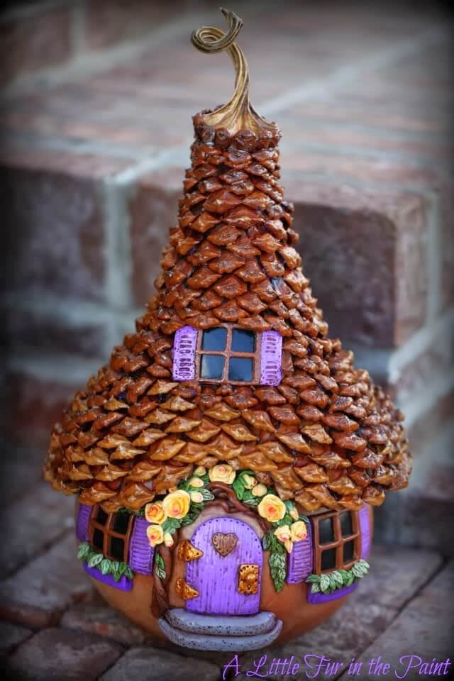 Pretty Pine Cone Fairy Dome | fairy garden accessories | miniture fairy garden ideas inspiration | homemade fairy garden decorations