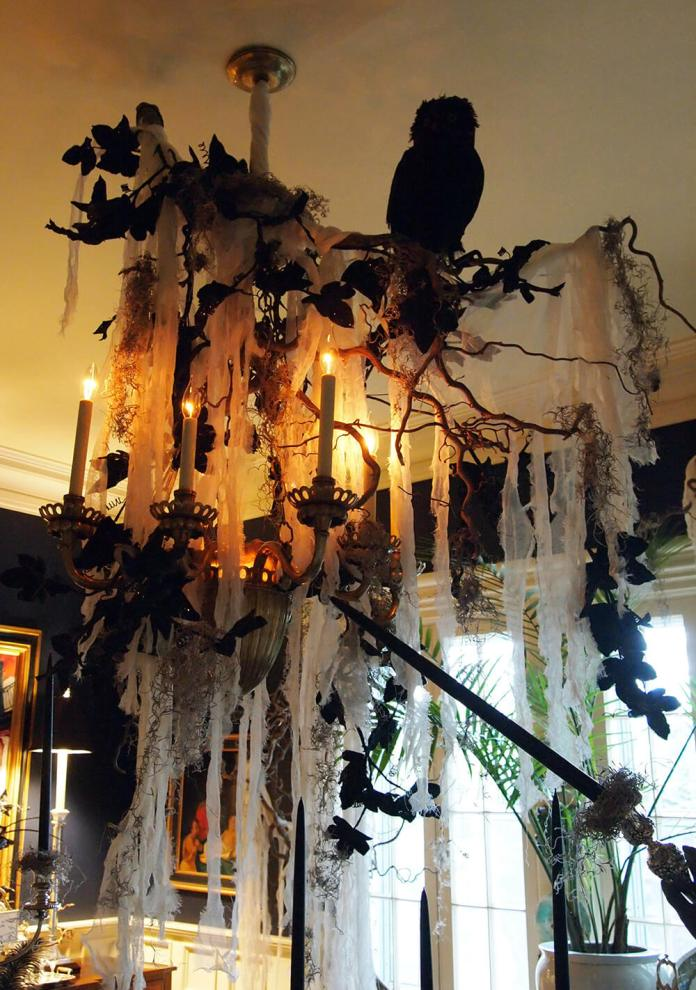 Trick Out Your Chandelier | DIY Indoor Halloween Decorating Ideas