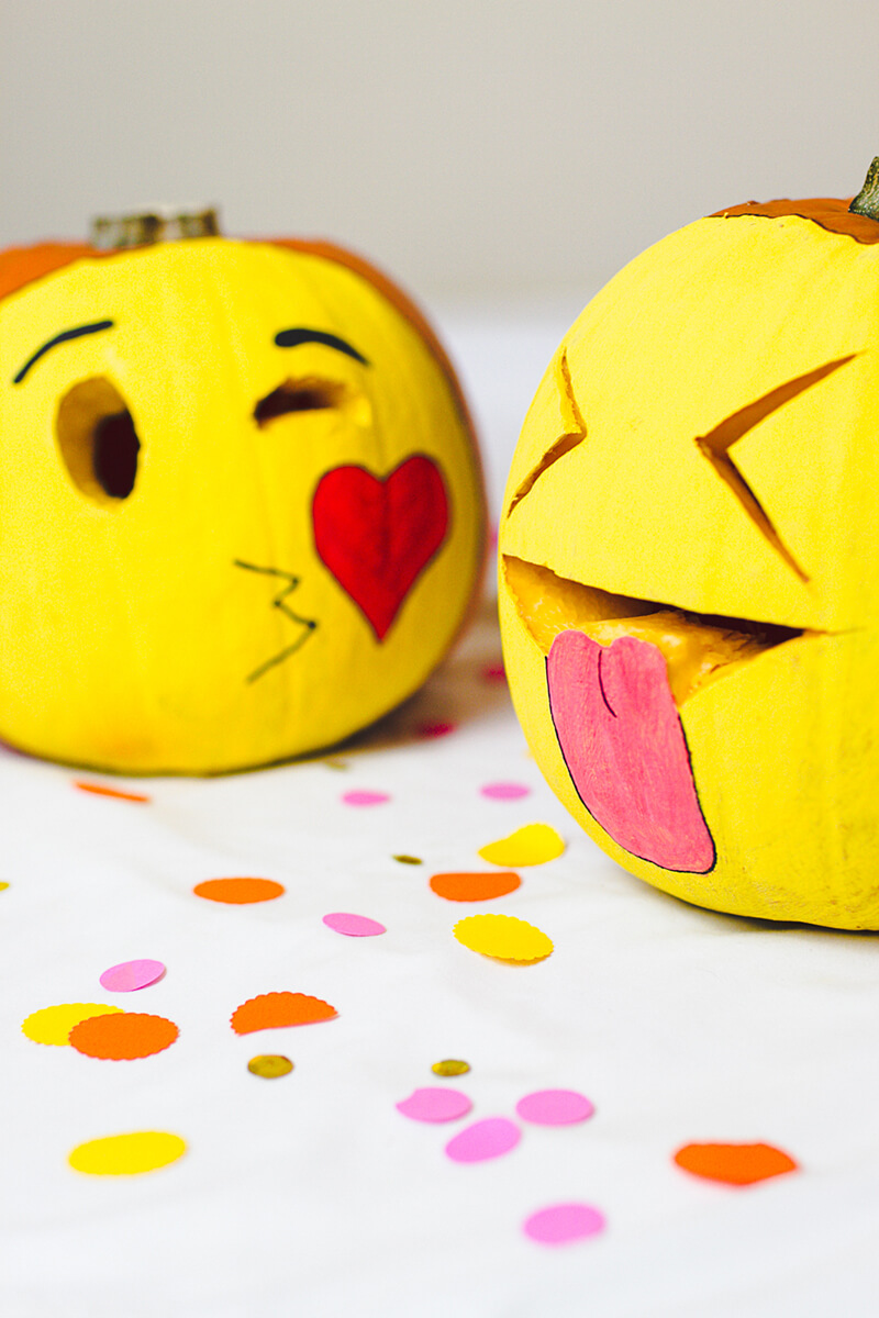 DIY Pumpkin Carving Ideas: Emojis