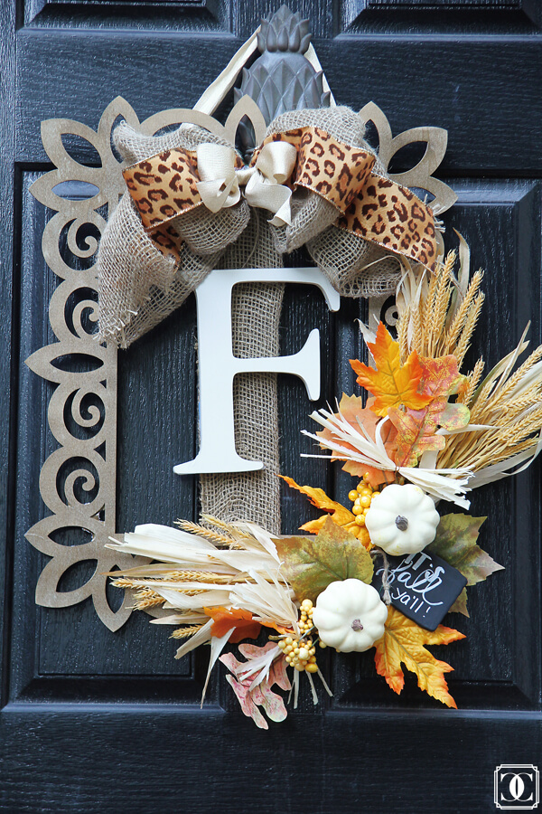 Fall Wreath DIY Using Wooden Frame