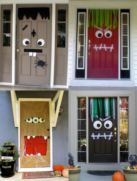 Halloween Door Decoration Ideas: Monster Doors