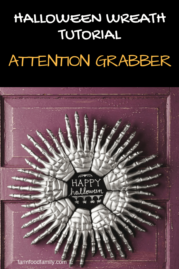 DIY Front Door Halloween Wreath: Attention Grabber