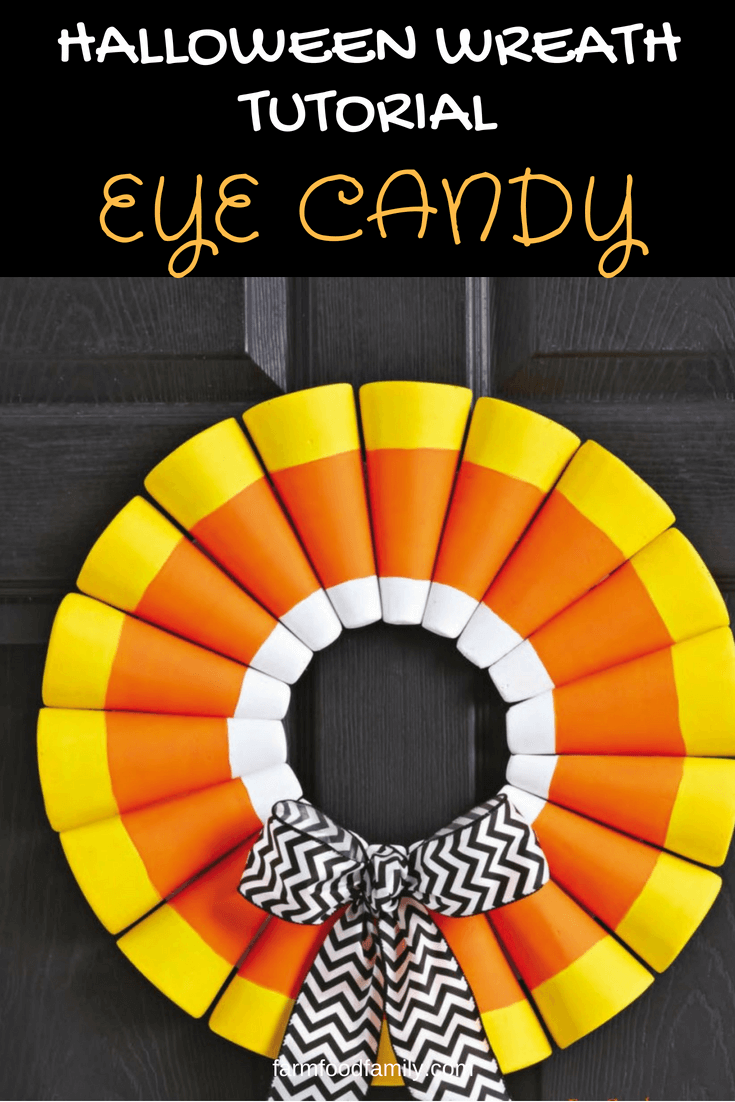 DIY Front Door Halloween Wreath: Eye candy