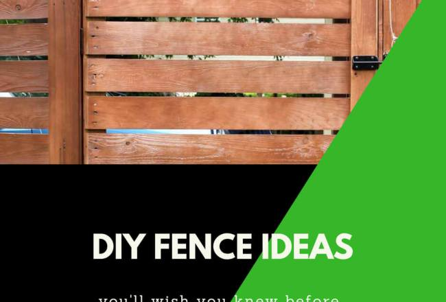 26+ Simple and Inexpensive DIY Fence Ideas For Your Backyard, or Privacy