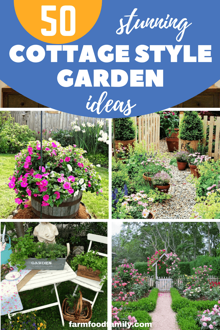 Use the ideas in this article to make a difference to your garden. Here're these 50+ beautiful cottage style garden ideas and plans