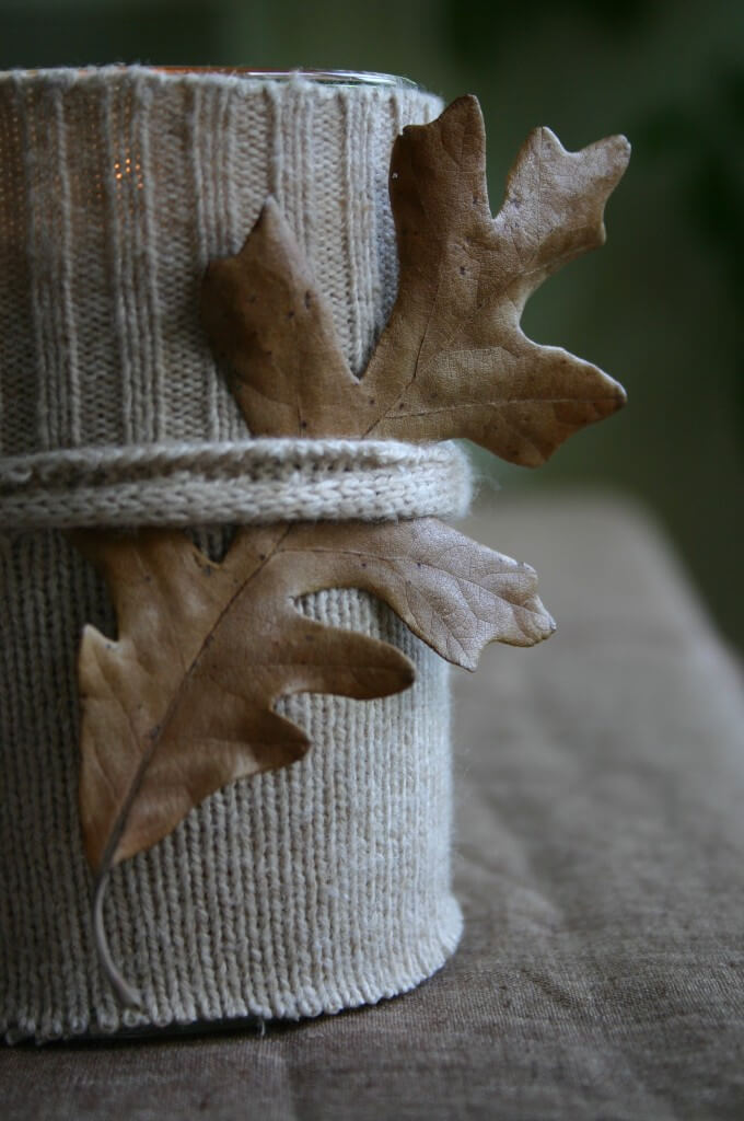 A better sweater | DIY Fall-Inspired Home Decorations With Leaves - FarmFoodFamily