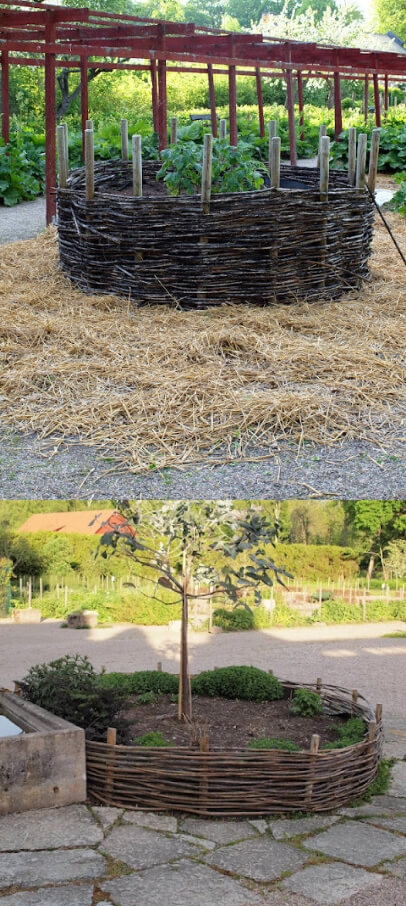 Willow Raised Bed | Cool Round Garden Bed Ideas For Landscape Design - FarmFoodFamily.com #raisedgarden #raisedgardenbed #gardenbed