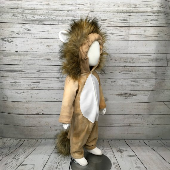 Lion Fleece Baby Costume | Animal Halloween Costumes for Kids, Adults - FarmFoodFamily.com