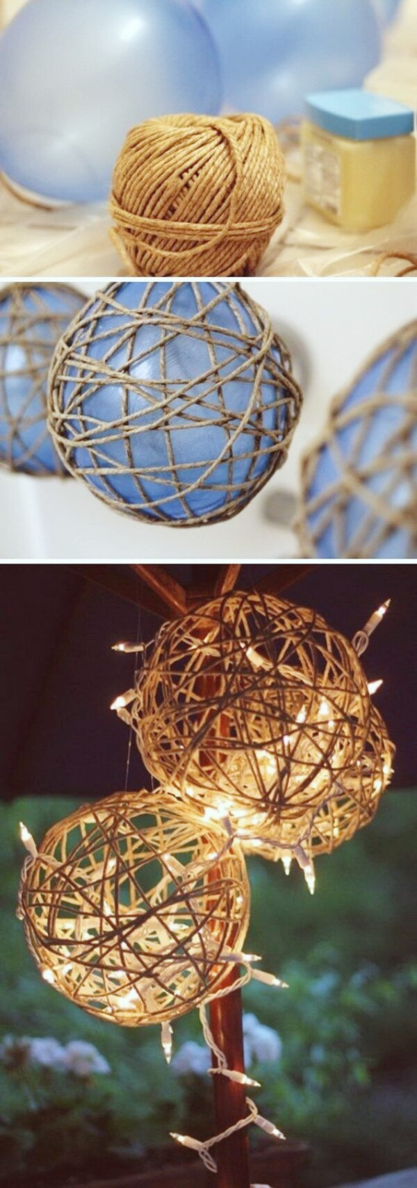 Light Balls | Creative DIY Garden Lantern Ideas - FarmFoodFamily.com