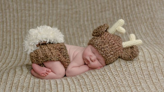Newborn Deer Outfit | Animal Halloween Costumes for Kids, Adults - FarmFoodFamily.com