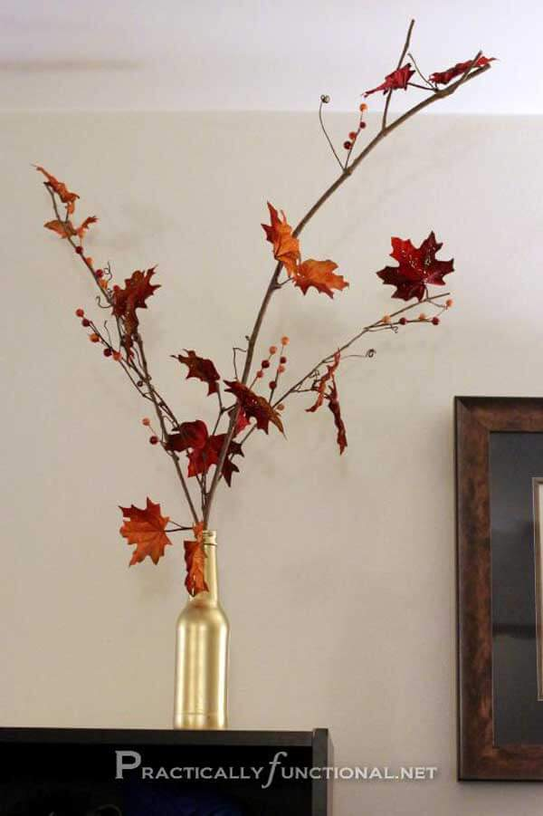 DIY Fall Decor with leave | DIY Fall-Inspired Home Decorations With Leaves - FarmFoodFamily