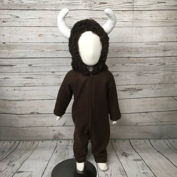 Bison Fleece Toddler Costume | Animal Halloween Costumes for Kids, Adults - FarmFoodFamily.com