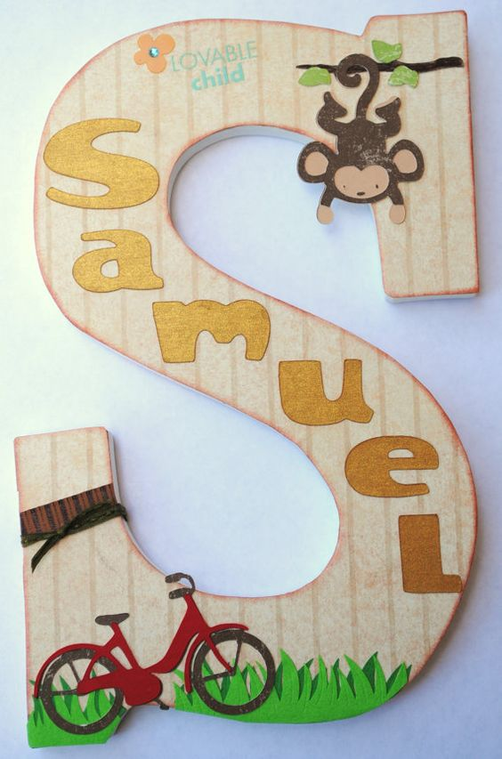 Customized Zoo Animal/ Team Safari Wooden Name Letter | Cool Zoo Themed Bedroom Ideas For Kids or Nursery