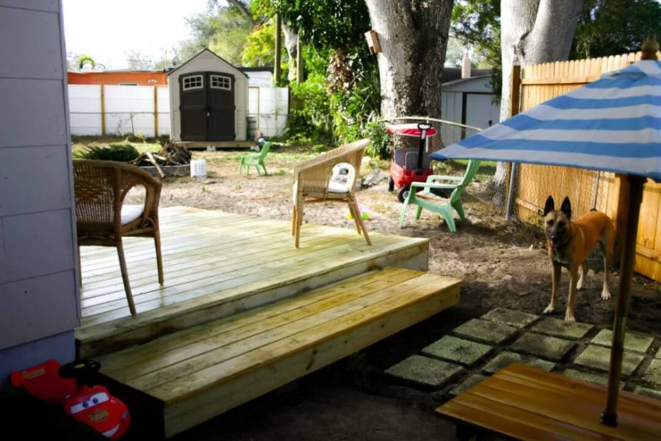 DIY Floating Deck in 48 hours for less than $500