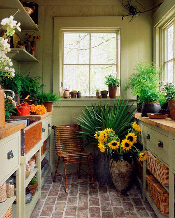 Garden in the kitchen | Smart Mini Indoor Garden Ideas DIY - FarmFoodFamily.com