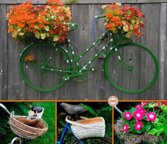 Junk Garden Ideas 2018 Edition: 35+ Charming Bicycle Planter Ideas For Your Backyard You