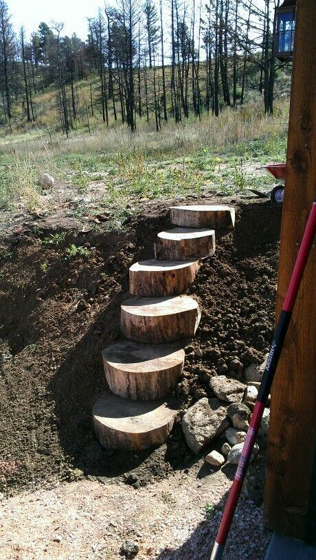 Log Stairs | Creative Garden Step & Stair Ideas | FarmFoodFamily