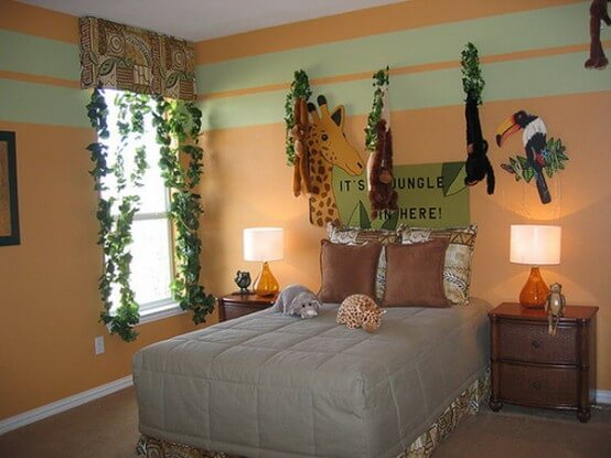 How to decorate a jungle theme bedroom   Jungle theme bedroom ideas