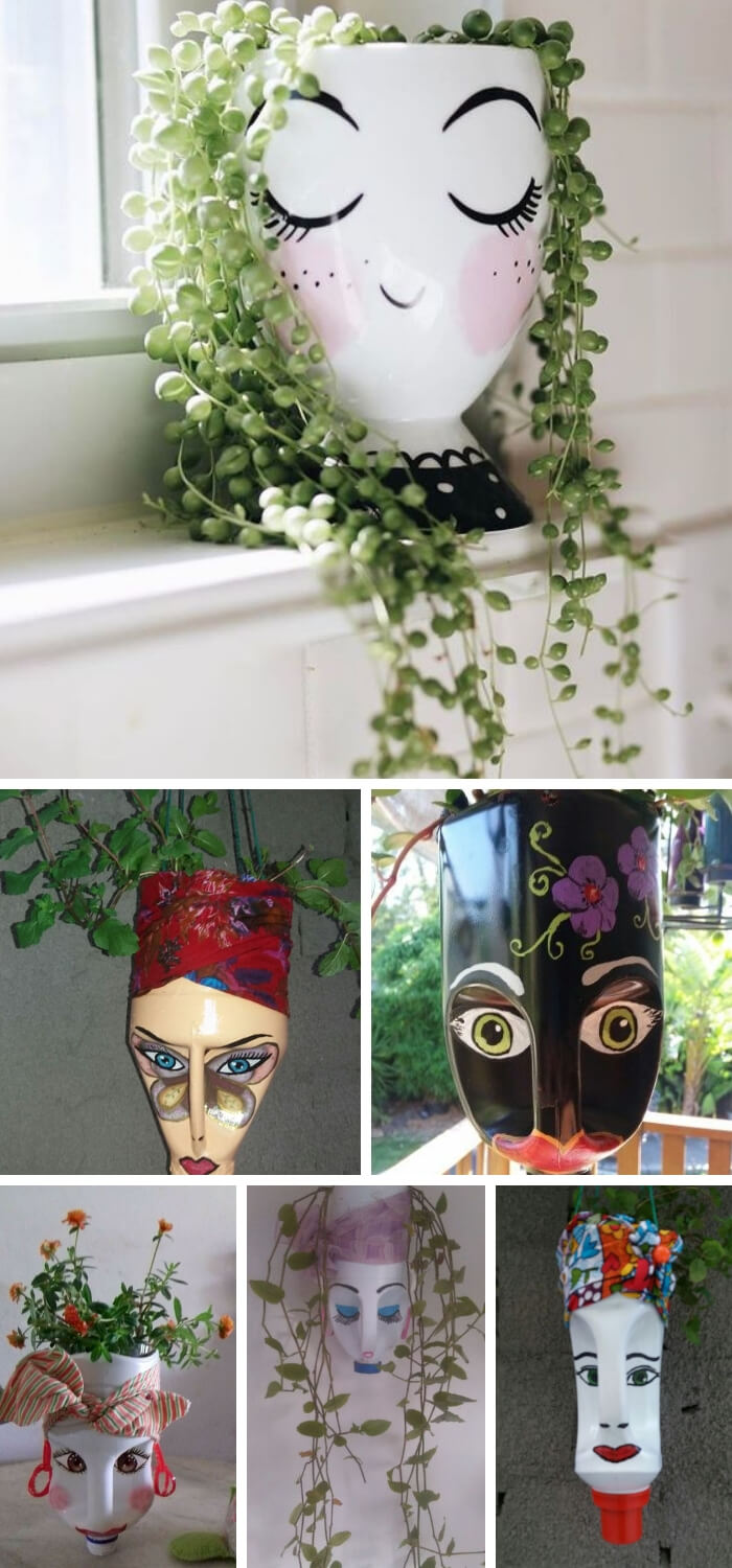 Planter Made From A Milk Container | Clever Plastic Bottle Vertical Garden Ideas | FarmFoodFamily.com