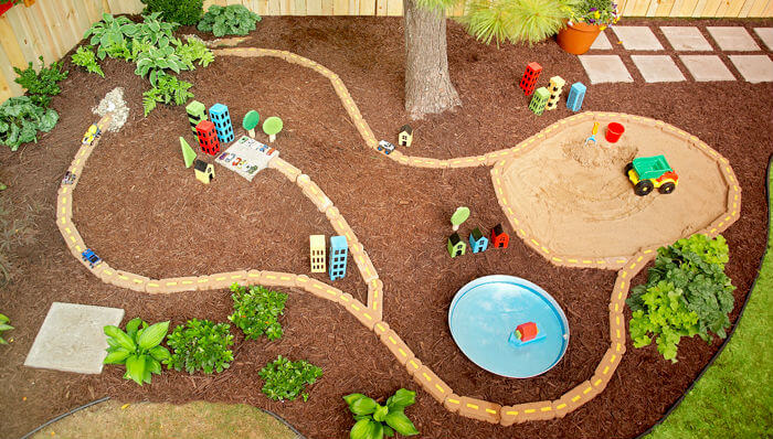 Backyard Play Area | DIY Race Car Tracks for Kids - FarmFoodFamily