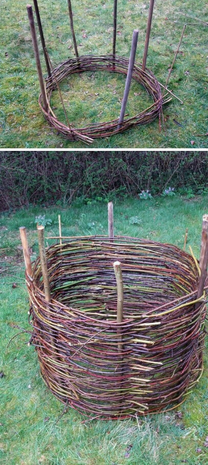 Willow Compost Pile | Easy Compost Bins You Can DIY On Very Low Budget - FarmFoodFamily.com