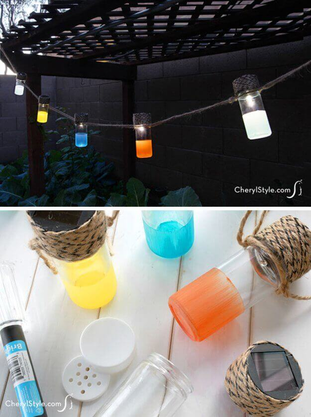 DIY Solar Lanterns | Creative DIY Garden Lantern Ideas - FarmFoodFamily.com