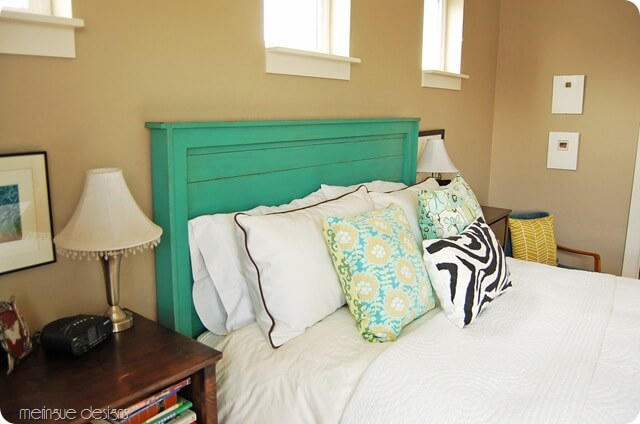 Wooden King Headboard | DIY Headboard Decoration Ideas for Bedroom