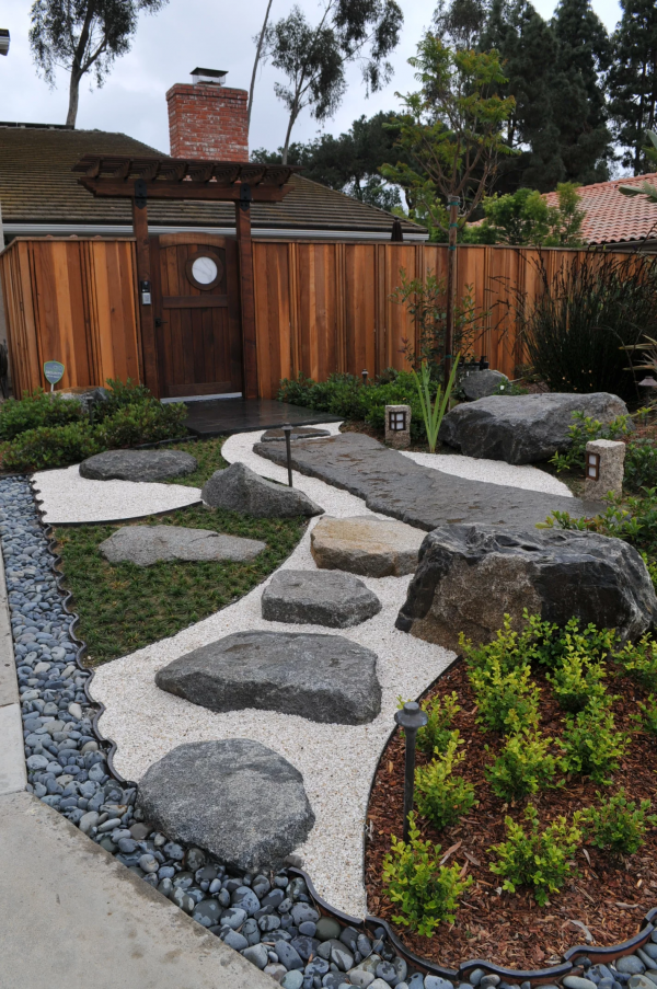 Zen Garden Path With Boulders, Pebble And Rock | Zen Garden Designs & Ideas