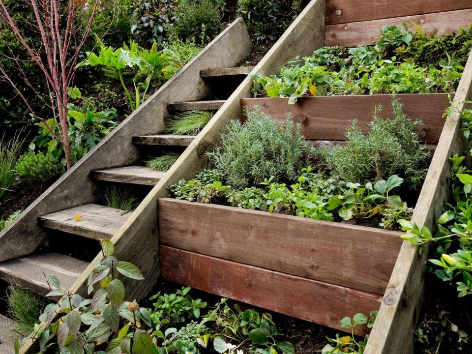 Green Stair | Creative Garden Step & Stair Ideas | FarmFoodFamily