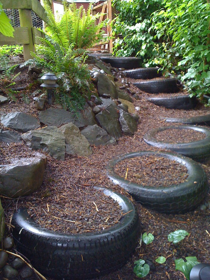 Tire Steps | Garden Stair and Step Ideas