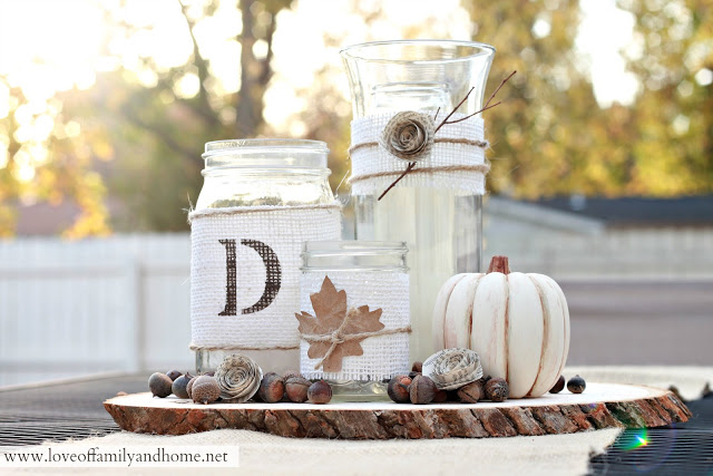 Rustic Fall Centerpiece | Best DIY Fall Centerpiece Ideas | FarmFoodFamily.com
