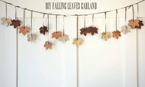DIY Falling Leaves Garland | DIY Fall-Inspired Home Decorations With Leaves - FarmFoodFamily