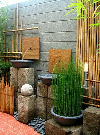 Zen Garden With An Interesting Water Feature | Zen Garden Designs & Ideas
