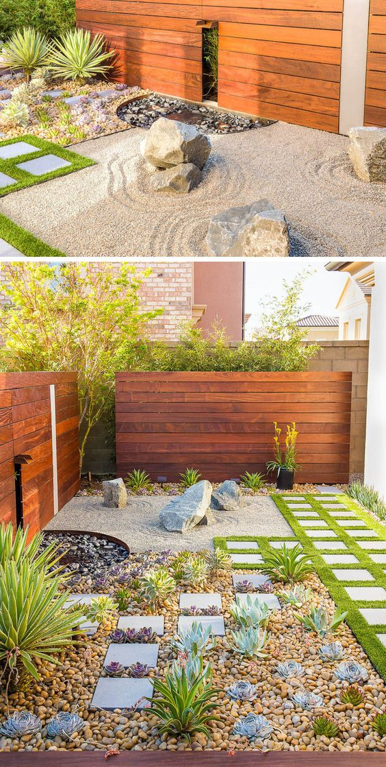 Contrast between Elements | Zen Garden Designs & Ideas