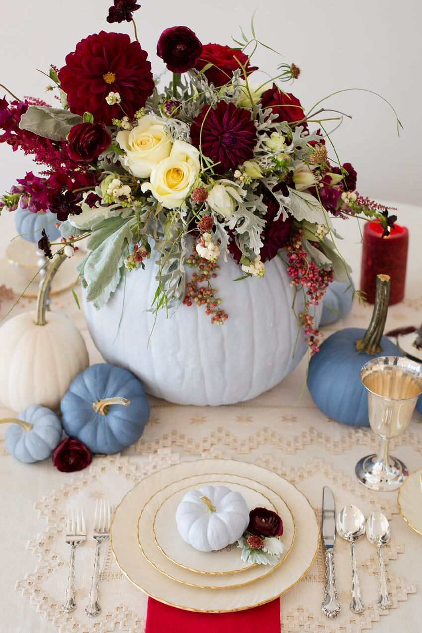 DIY Painted Pumpkins for the Perfect Fall Wedding Centrepieces | Best DIY Fall Centerpiece Ideas | FarmFoodFamily.com